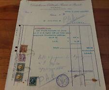 FATTURA D.E.R.P.O 1940 ALBENGA OSCURAMENTO SPEGNIMENTO ILLUMINAZIONE WWII 3-213