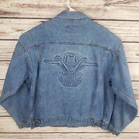 American Born Men's XL Vintage USA Winston Rodeo Denim Jean Trucker Jacket