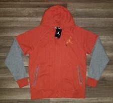 Nike Air Jordan The Varsity Hoodie Orange/Heather 689020-829 Size L
