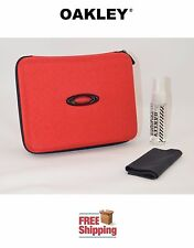 OAKLEY® SUNGLASSES EYEGLASSES EXTRA LARGE STORAGE CASE + CLEANER + CLOTH RED