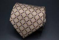 STEFANO RICCI LUXURY COLLECTION Silk Tie. Brown with Blue Floral.