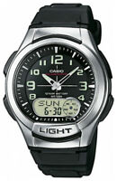 Casio AQ180W-1B Mens Analog Digital Sports Watch Databank New Led World Time