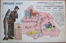 Emulsion Scott 1941 French Advertising Postcard - Man & Fish