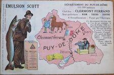 Emulsion Scott 1941 French Advertising Postcard - Man & Fish
