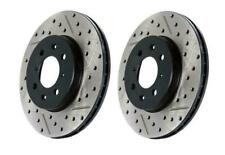 StopTech Slotted & Drilled Sport Front Brake Rotors for 12-14 Audi A4
