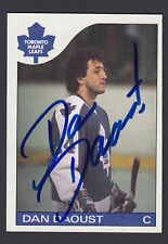Dan Daoust Hand Signed 1985-86 Topps Hockey Card #164 Maple Leafs COA