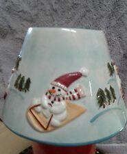 Michael Sparks Yankee Candle Large  holder - Christmas/Winter Scene Snowmen