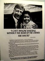 "1967 Mickey Mantle Rawlings Original Print Ad 8.5 x 10.5/"" 1//2 page"
