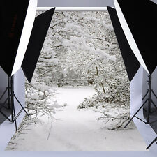 5x7FT Vinyl Christmas Snow Ice World Backdrop Studio Photography Prop Background
