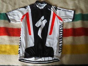 SPECIALIZED S-Works Logo White Black Full Zip Road Cycling Jersey Mens L EUC