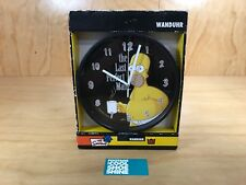 Wanduhr The Simpsons Homer Clock Yellow Black Collectible Animation Display NEW