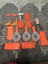 Huge Nerf Gun Lot nerf guns plus accessories Hand Grip Clips Drums Bipod