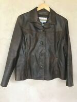 Wilsons Leather Maxima Womens Size XL Brown Leather Biker Jacket Thinsulate