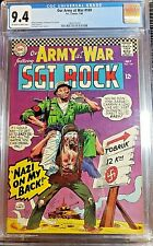 * (CGC NM 9.4) Our Army at War 169 12c OWP Sgt. Rock vs Nazis! Joe Kubert art **