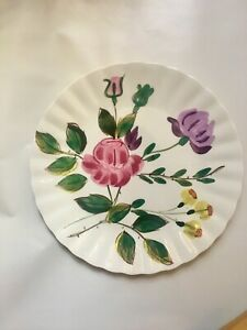 """Blue Ridge Southern Pottery June Bouquet 9.5"""" Plate Vintage"""