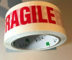 FRAGILE Parcel Packing Tape Sellotape LONG ENVIRO TAPE 66 METRES X 48MM ECO SAVE