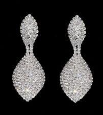 Boucles d oreilles Strass 6,5 cm Pour un Mariage ou une Soirée