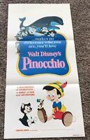 Original 1982 Re-Release PINOCCHIO Australian Daybill Movie Poster, 13x27