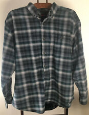 Wolverine Mens Long Sleeve Outdoors Hunting Green Plaid Shirt Size XL Button Up