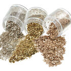 10ml Fashion Champagne Gold Brown Nail Art Glitter Powder Sequins Powder Decor