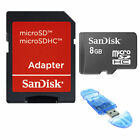 SanDisk 8GB MicroSD Micro SD SDHC w/USB Reader 8 GB TF Class 4 Flash Memory Card