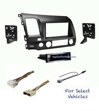 Gray Car Stereo Radio Kit Combo for 2006 2007 2008 2009 2010 2011 Honda Civic