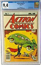 CGC 9.4 ACTION COMICS #1 .. 1988 .. SCARCE NEWSSTAND REPRINT .. 1ST SUPERMAN ..