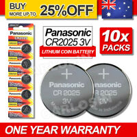 10x For Panasonic CR2025 Lithium Battery Button Coin Cell 4 Alarm Car Key DL2025