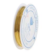 1 rotolo filo di rame fatto a mano 0.25-1.0mm perline filo di gioielli