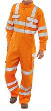 ARC complaint rail spec hi-vis  orange coverall size 48'' 120cm chest - K4
