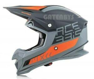 New Acerbis Sz LG ACU KTM ORANGE Motocross Enduro Helmet SX SXF EXC XCF LC4 EXCF