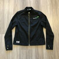 Kawasaki Womens Large Kawi Girl Black Zip Up Jacket 100 Polyester