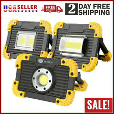 Portable 100000lm Cob Led Work Light Rechargeable Emergency Flood Lamp Stand Us