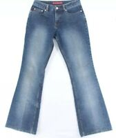 Vintage YMI Womens Blue Mid Rise Stretch Medium Wash Bootcut Jeans Size 7