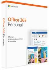 Microsoft Office 365 Personal  1 user 1 year PC/Mac EMAILED SAME DAY VAT inc UK