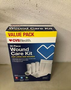 NEW SEALED CVS HEALTH 30 PIECE LARGE WOUND CARE KIT