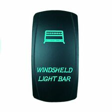 Motor Laser 12V 20A Toggle Rocker Switch GREEN LED WINDSHIELD Lighted