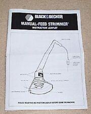 BLACK & DECKER ELECTRIC GARDEN STRIMMER INSTRUCTIONS