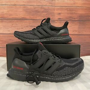 Adidas Ultraboost Men's Classic Black/Red Athletic Running Sneaker FY9048