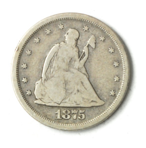 1875 S 20c Seated Liberty Silver Twenty Cent Piece US San Francisco