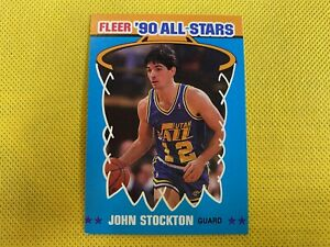 1990-91 Fleer All-Stars #9 John Stockton Utah Jazz