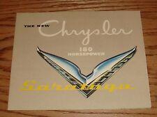 Original 1951 Chrysler Saratoga Foldout Sales Brochure 51