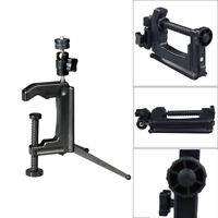 Mini Portable Swiveling C-Clamp Tripod Stand for SLR VCR Cameras Camcorder Black