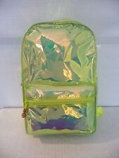 NWT J.CREW KIDS IRIDSECENT BACKPACK, E1532, NEON GREEN
