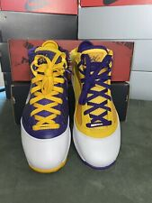 "LEBRON 7 ""MEDIA DAY"" LAKERS SIZE 8 cw2300-500"