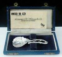 Silver Caddy Spoon, Laurence R Watson & Co, Sheffield 1981