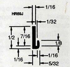 "Rubber Edge Trim 1/32""  #69J Sold by the foot U channel Black Edge Guard"