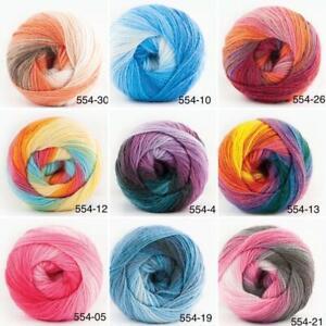 100g Strickgarn | Papatya Batik Wolle mit tollem Farbverlauf | 100% Polyacryl