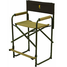 Portable Folding Directors Chair Lightweight Tall Aluminum Executive High Seat