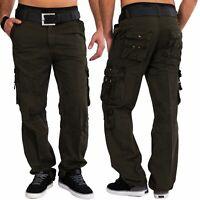 Hommes Cargo Pantalon 100% coton robuste pantalon cargo pantalon de travail